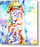 Watercolor Woman.18 Metal Print by Fabrizio Cassetta