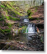 Waterfall At Parfrey's Glen Metal Print by Jonah  Anderson