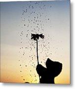 Watering A Flower Metal Print by Tim Gainey
