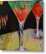 Watermelon Martini Metal Print by Michael Creese