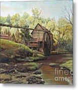 Watermill At Daybreak  Metal Print by Mary Ellen Anderson