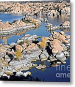 Watson Lake And The Granite Dells Metal Print by Jim Chamberlain