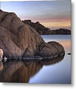Watson Lake Arizona Colors Metal Print by Dave Dilli