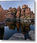 Watson Lake Arizona Reflections Metal Print by Dave Dilli