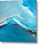 Wave Action Metal Print by Michelle Wiarda