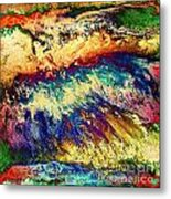 Wave Of Color Metal Print by Patty Vicknair