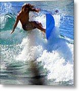 Wave Rider Metal Print by Karen Wiles