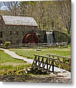 Wayside Grist Mill 8 Metal Print by Dennis Coates