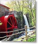 Wayside Inn Grist Mill Metal Print by Barbara McDevitt