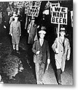 We Want Beer Metal Print by Unknown