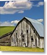 Weathered Barn Palouse Metal Print by Carol Leigh