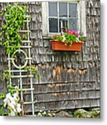 Weathered Maine Seacoast Barn Metal Print by Thomas Schoeller