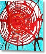 Web Of Life Original Painting Metal Print by Sol Luckman