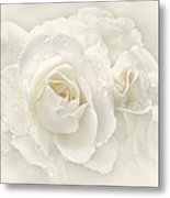 Wedding Day White Roses Metal Print by Jennie Marie Schell