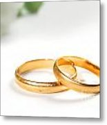 Wedding Rings Metal Print by Michal Bednarek