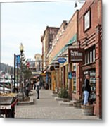 Welcome To Truckee California 5d27445 Square Metal Print by Wingsdomain Art and Photography