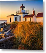 West Point Lighthouse Metal Print by Inge Johnsson