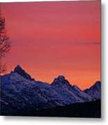 West Side Teton Sunrise Metal Print by Raymond Salani III