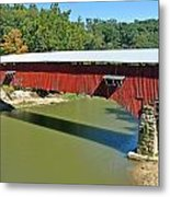 West Union Covered Bridge 2 Metal Print by Marty Koch