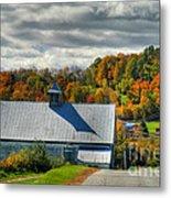 Western Maine Barn Metal Print by Alana Ranney