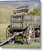 Western Wagon Metal Print by Sabrina L Ryan