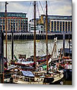 Wharf Ships Metal Print by Heather Applegate