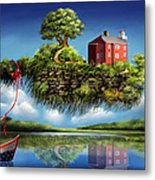 What A Wonderful World Metal Print by Turquoise Brush