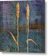 Wheat Couple Metal Print by Carolyn Doe