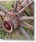 Wheel Of Old Metal Print by Marty Koch