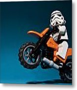 Wheelie Metal Print by Samuel Whitton