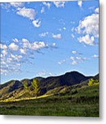When Clouds Meet Mountains Metal Print by Angelina Vick
