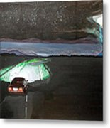 When The Night Start To Walk Listen With Music Of The Description Box Metal Print by Lazaro Hurtado