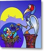 When You Sleep In A Stork's Nest ...  Metal Print by TJ Ballew