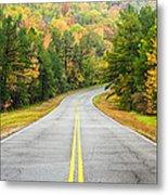 Where This Road Will Take You - Talimena Scenic Highway - Oklahoma - Arkansas Metal Print by Silvio Ligutti