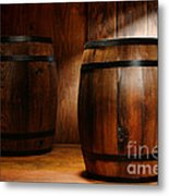 Whisky Barrel Metal Print by Olivier Le Queinec