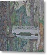 White Bridge Metal Print by Dave Smith