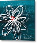 White Flower Metal Print by Linda Woods