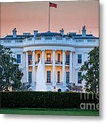 White House Metal Print by Inge Johnsson