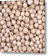 White Peppercorn Background Metal Print by Jane Rix