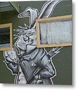 White Rabbit Metal Print by Lne Kirkes