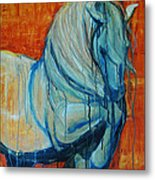 White Stallion Metal Print by Jani Freimann