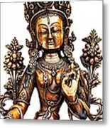White Tara Metal Print by Tim Gainey
