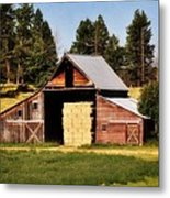 Whitefish Barn Metal Print by Marty Koch