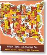 Wilbur Some All American Pig Metal Print by Barbara Snyder