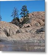 Willow Lake Number One Color Metal Print by Heather Kirk