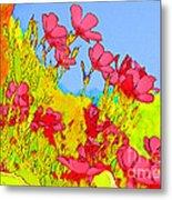 Wild Flowers In Bloom Metal Print by Julie Lueders