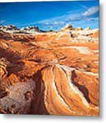 Wild Sandstone Landscape Metal Print by Inge Johnsson