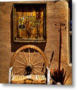 Wild West T-shirts - Old Town New Mexico Metal Print by David Patterson