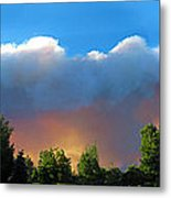 Wildfire Coming Metal Print by Ric Soulen