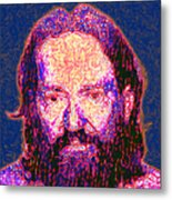 Willie Nelson Painterly 20130328 Square Metal Print by Wingsdomain Art and Photography